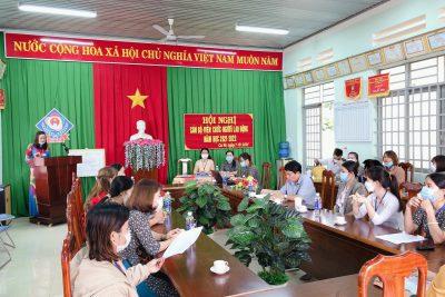 Hội nghị cán bộ viên chức, người lao động năm học 2021- 2022 của Trường Mầm non Sao Mai